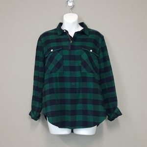 J. Crew Buffalo check green shirt-jacket